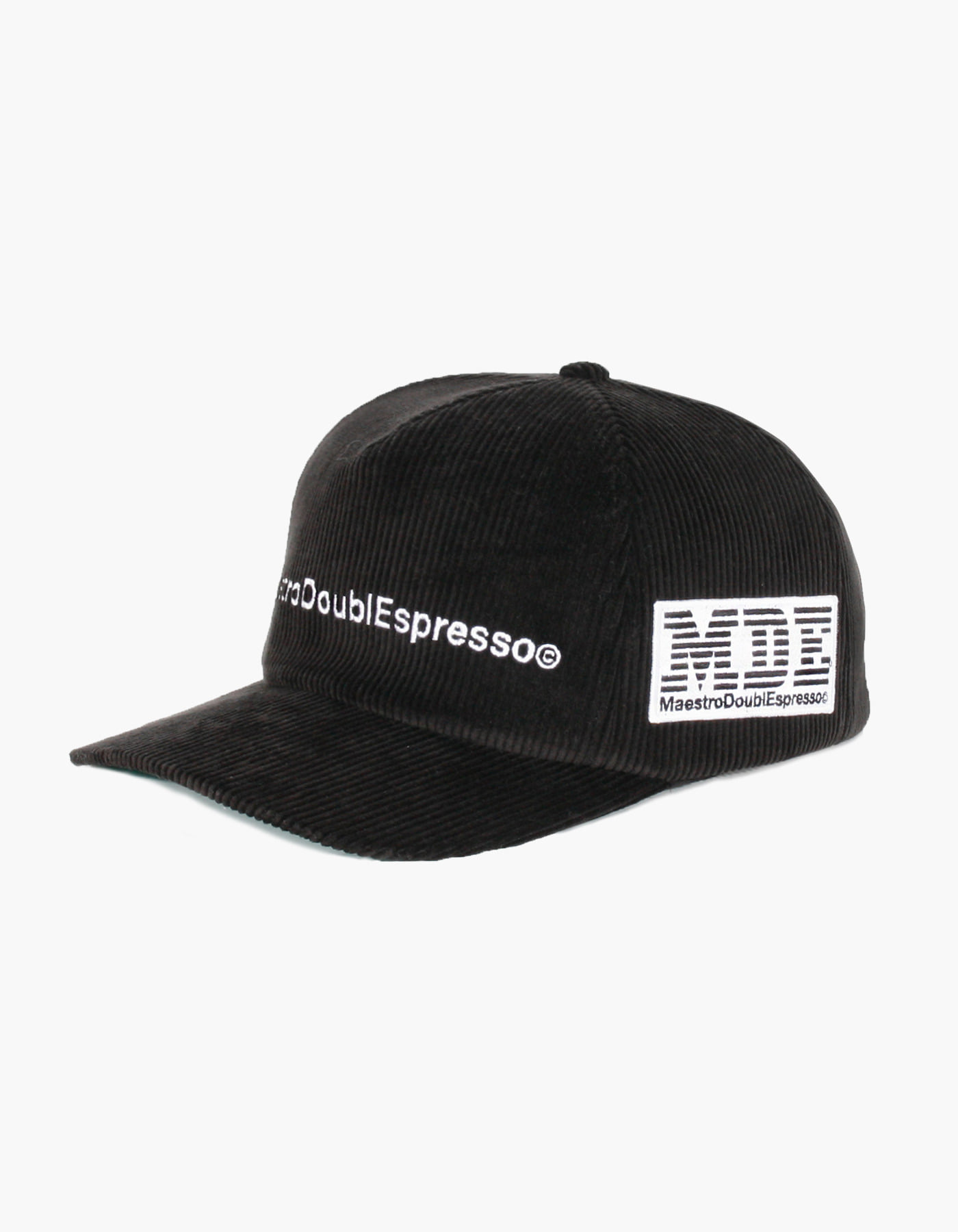 MDE CORDUROY 5 PANEL CAP / BLACK